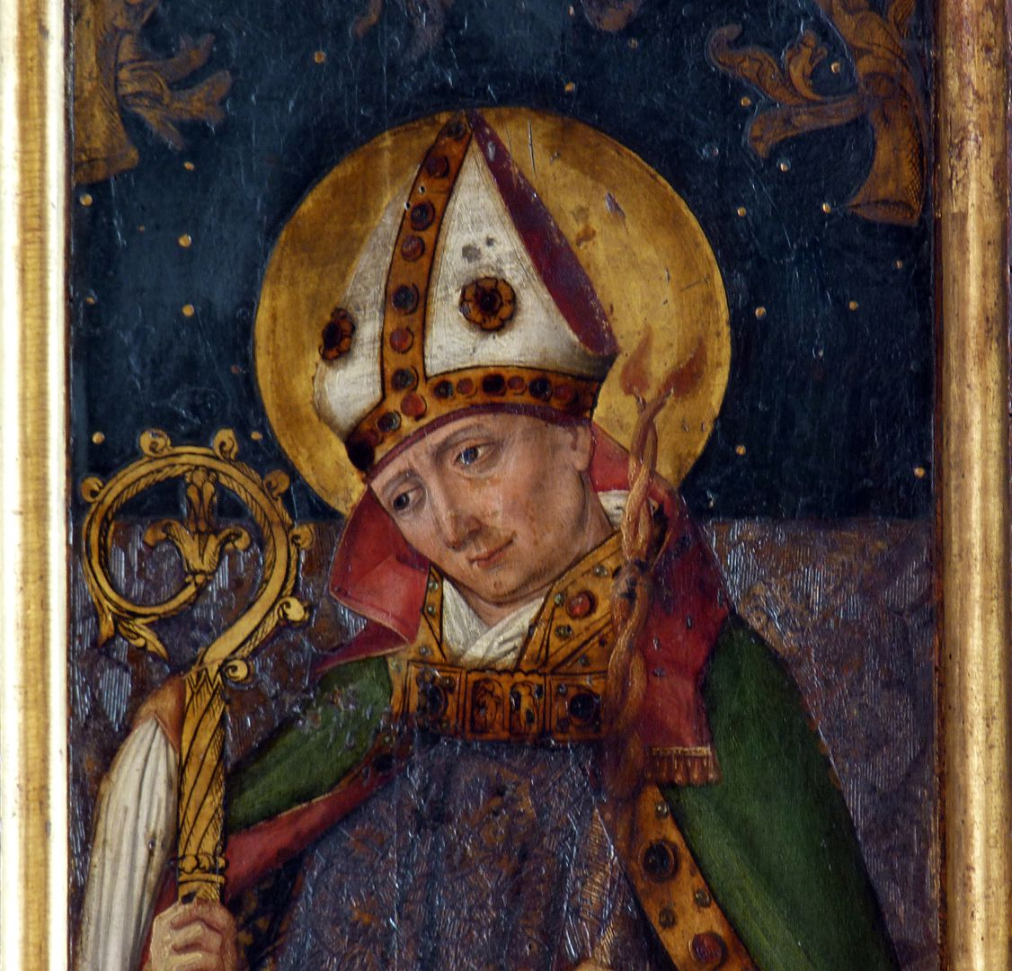 St.Jobst Ottmaraltar, rechter Flügel, Heiliger Blasius, nach 1500