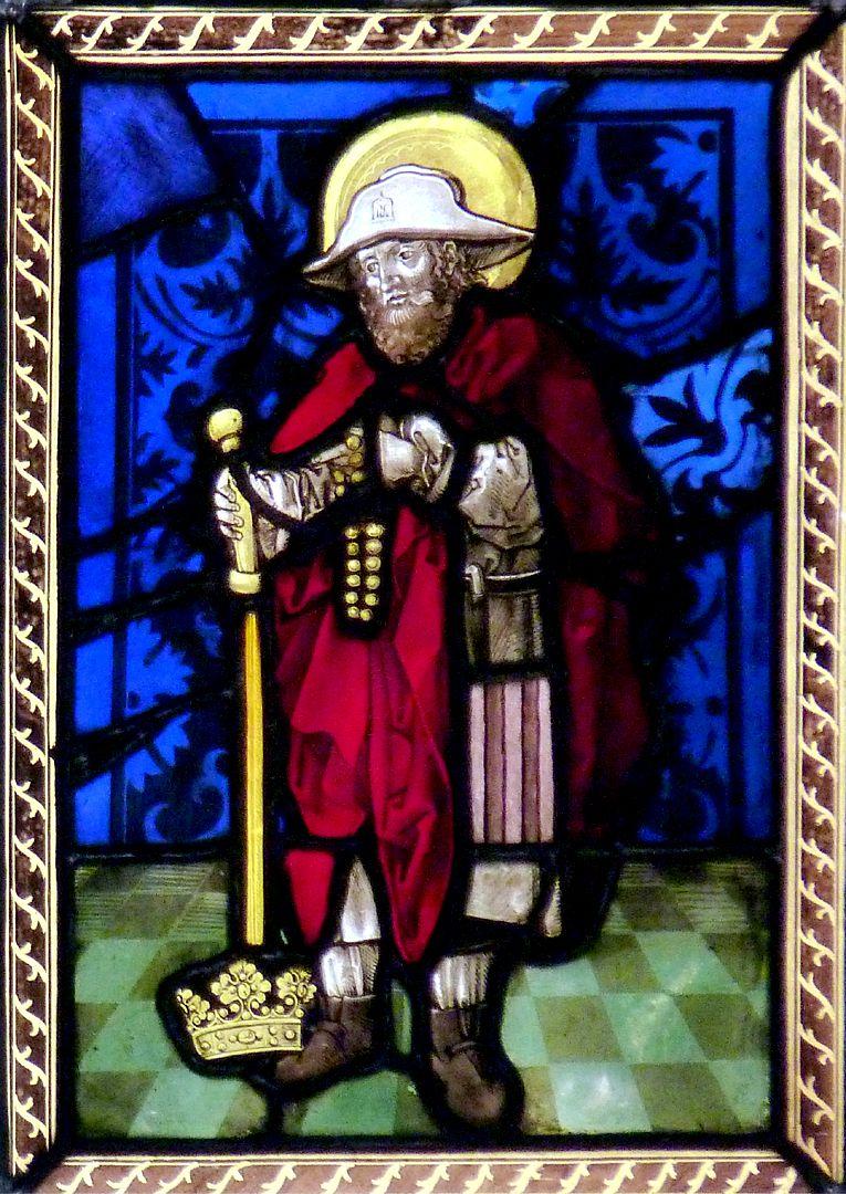 St.Jobst Glasgemälde im Chor,  Heiliger Jobst, 1507