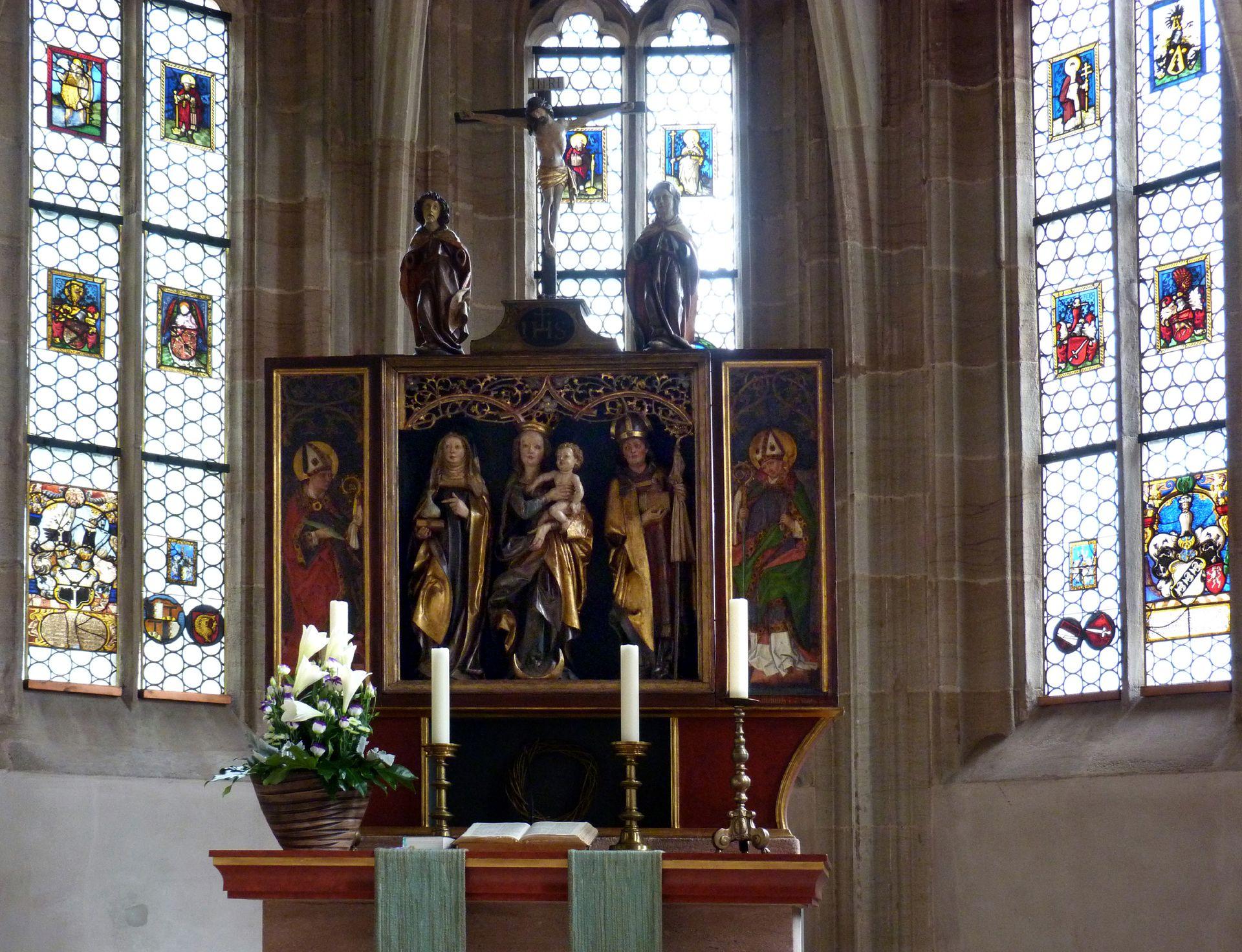 St.Jobst Chor mit Ottmaraltar, nach 1500