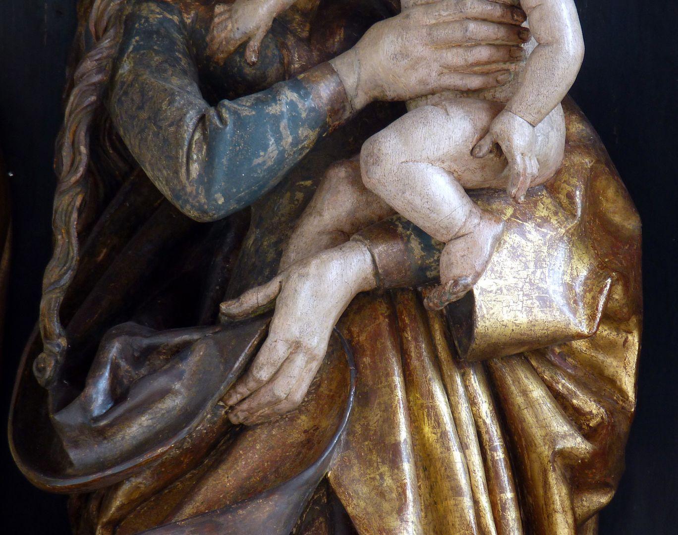 St.Jobst Ottmaraltar, Detail der Maria mit dem Kinde, Umkreis des Veit Stoss, nach 1500