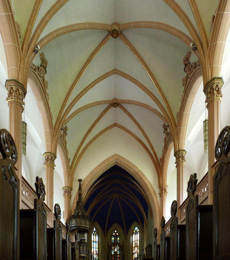 Stadtkirche St. Peter (Sonneberg) hölzernes Mittelschiff