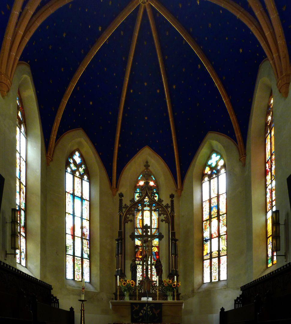 Stadtkirche St. Peter (Sonneberg) Chor mit Hauptaltarbaldachin von Heideloff/Hartung