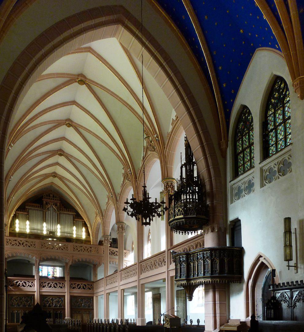 Stadtkirche St. Peter (Sonneberg) Schrägansicht vom Chor in Richtung Hauptschiff
