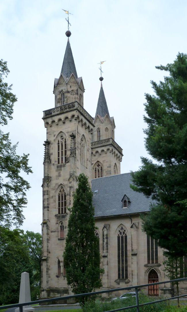 Stadtkirche St. Peter (Sonneberg) rechte Flanke