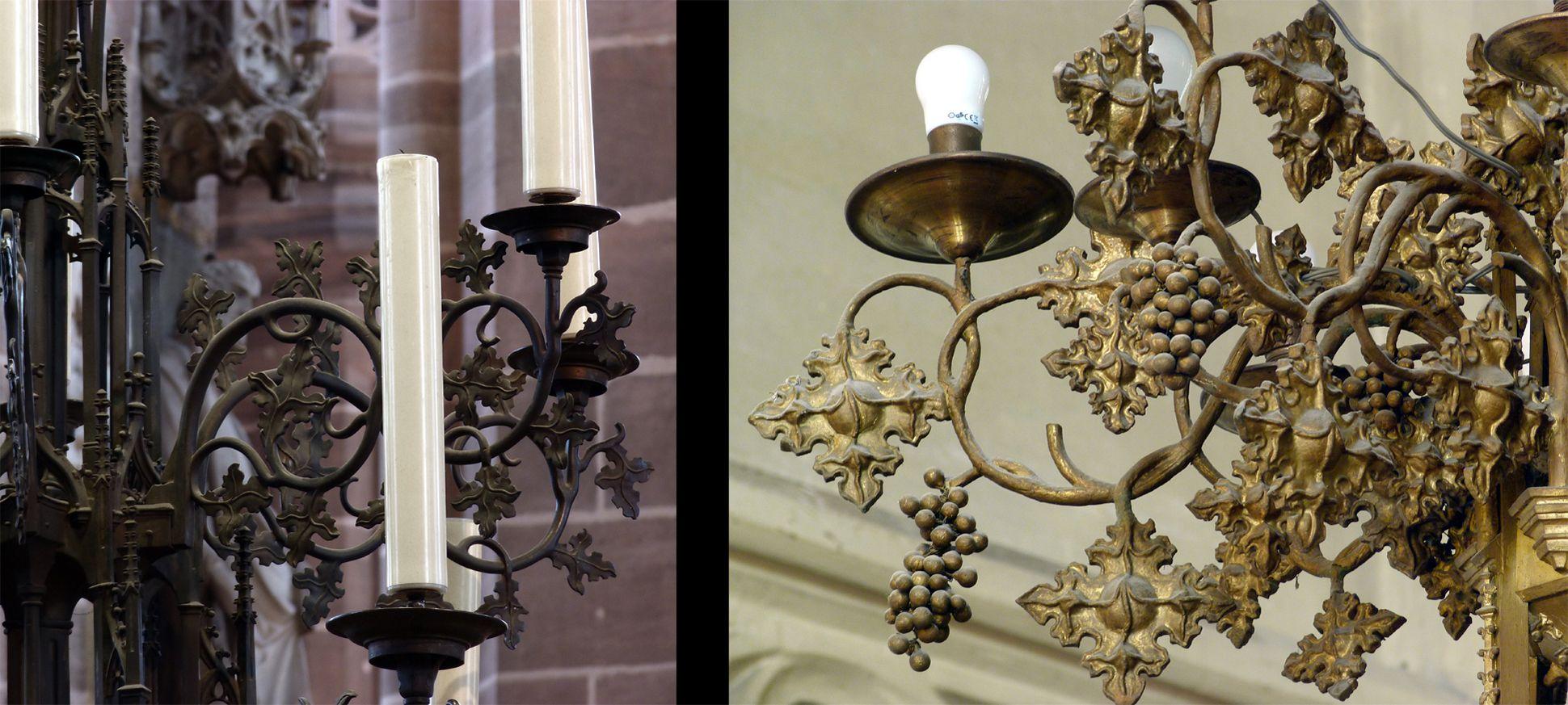 Stadtkirche St. Peter (Sonneberg) Vergleichsbild: Kronleuchterdetails