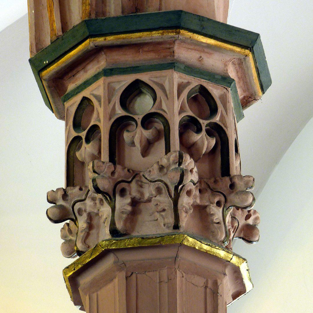 Stadtkirche St. Peter (Sonneberg) Pfeilerkapitell, Detail