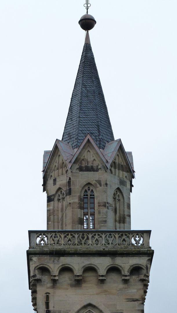 Stadtkirche St. Peter (Sonneberg) Achtort mit Maßwerkgalerie