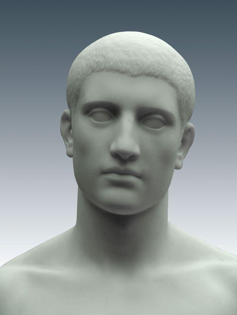 Stehender junger Mann Kopf