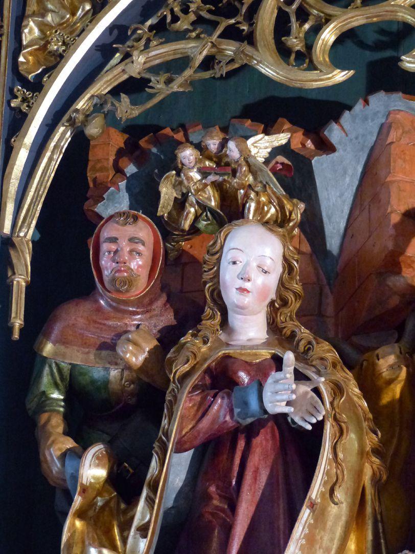 Marienaltar (Salzburg) Mittelschrein, Maria und Joseph