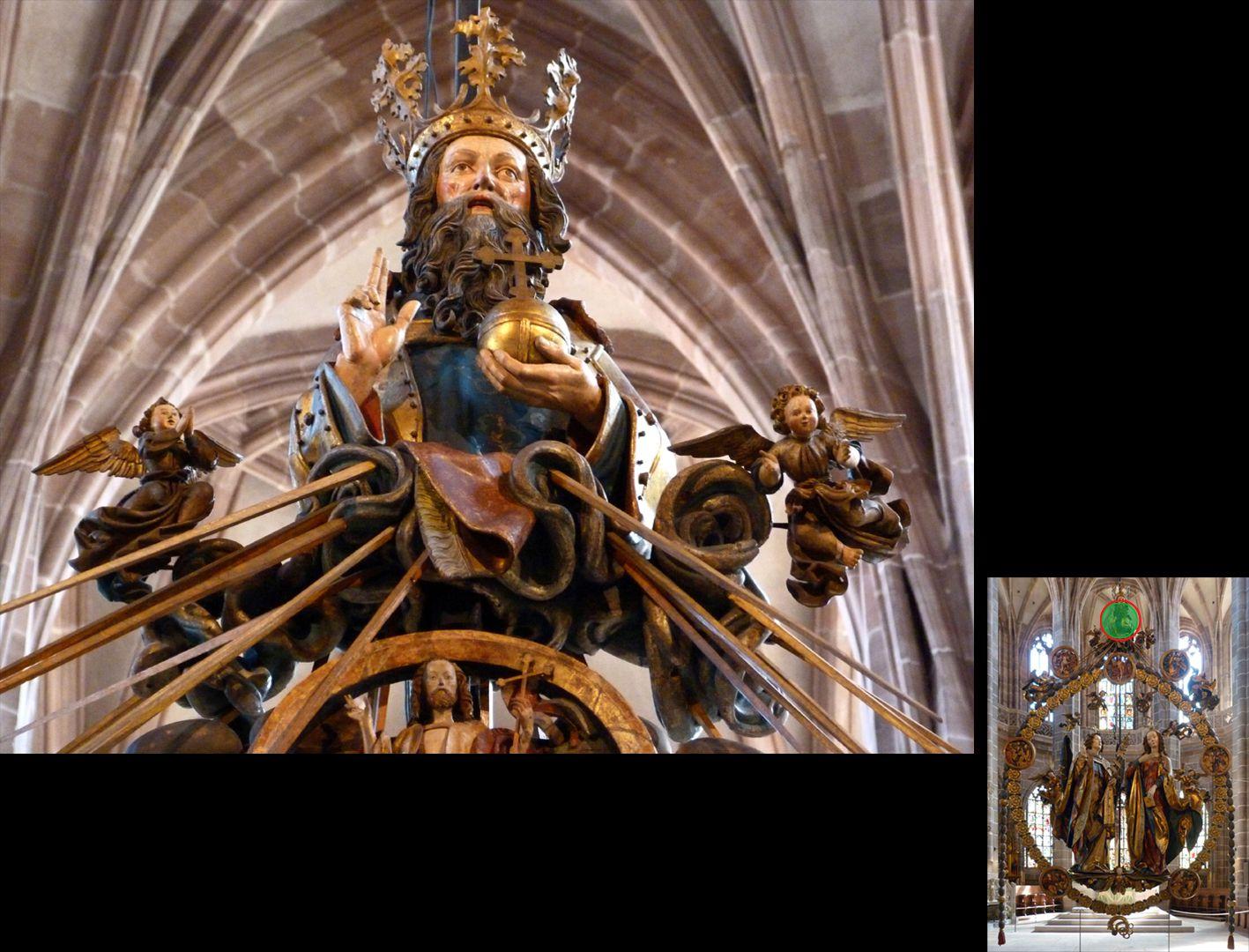 Englischer Gruß Gottvater, Untersicht (unten rechts Detaillokalisierung)