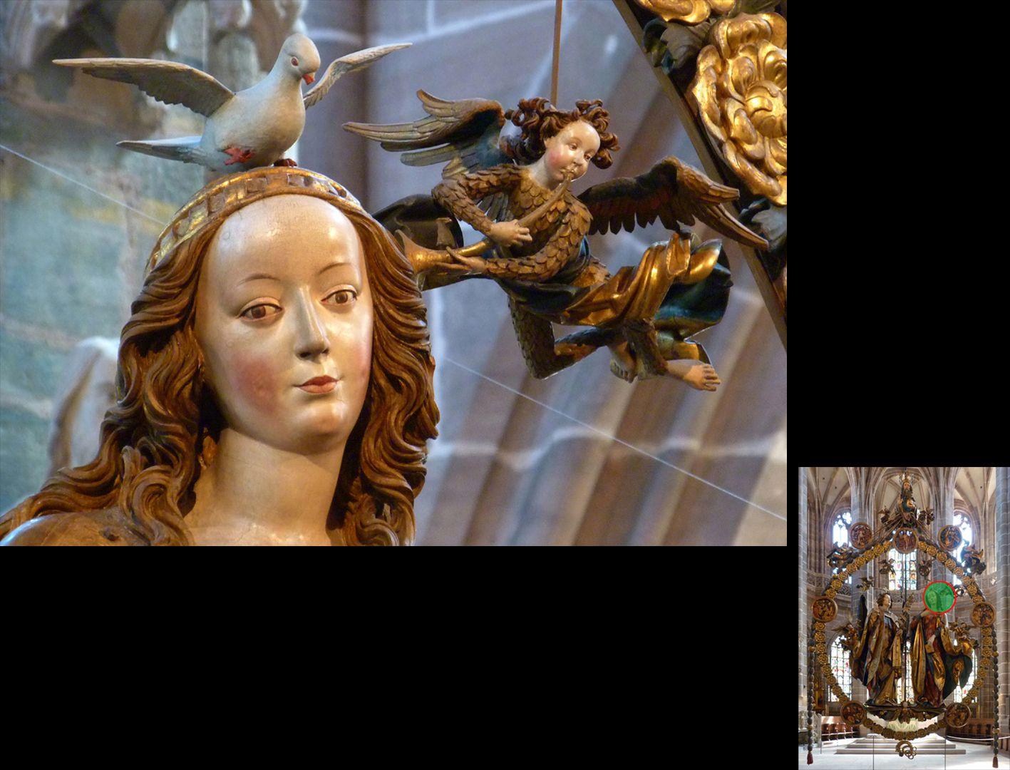 Englischer Gruß Kopf der Maria (unten rechts Detaillokalisierung)