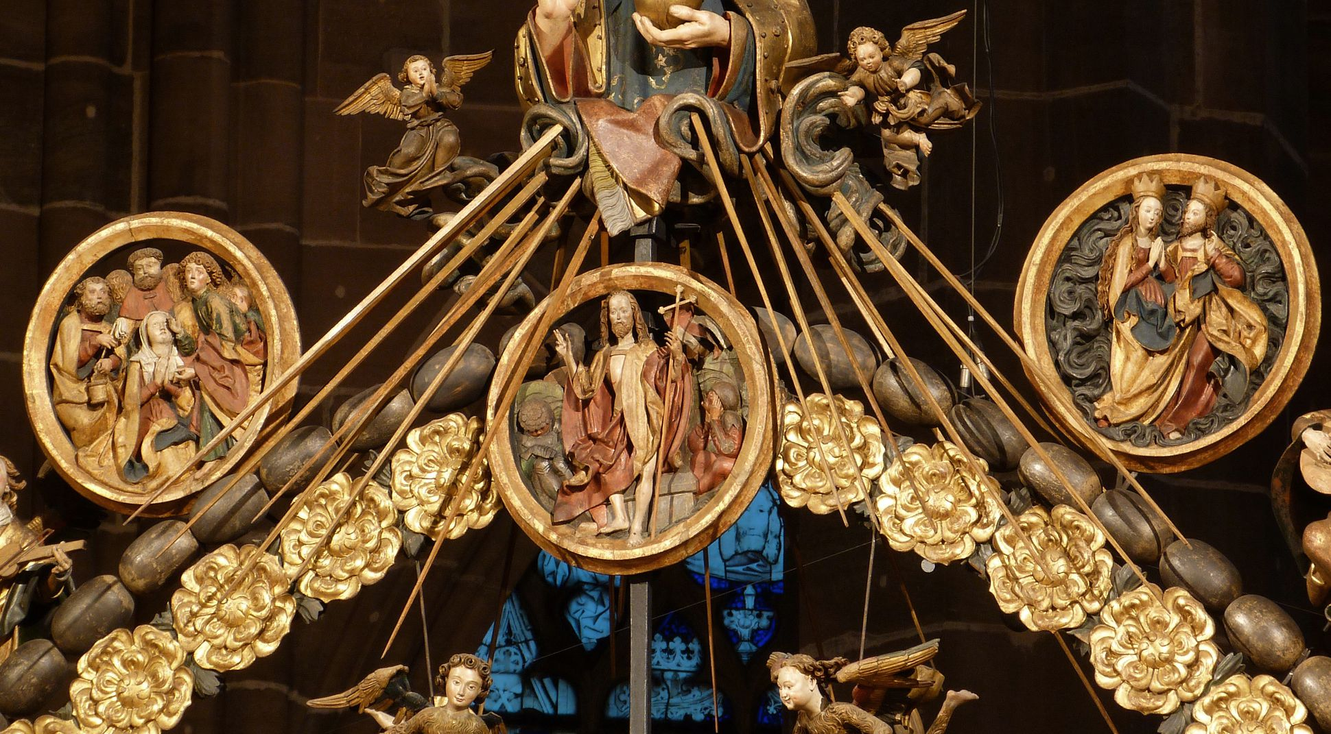 Englischer Gruß obere Medaillons des Rosenkranzes