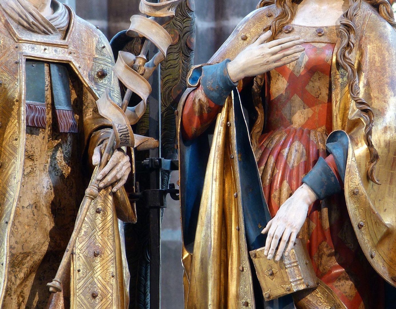 Englischer Gruß Hände von Gabriel und Maria