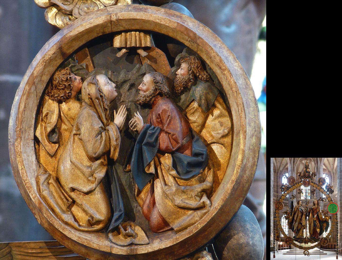 Englischer Gruß Himmelfahrtsmedaillon (unten rechts Detaillokalisierung)