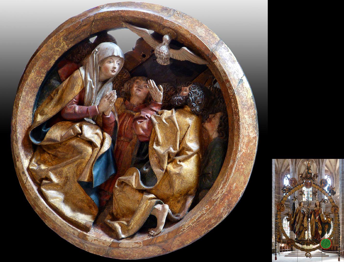 Englischer Gruß Pfingstmedaillon (unten rechts Detaillokalisierung)