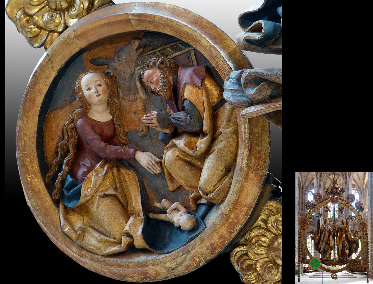 Englischer Gruß Weihnachtsmedaillon (unten rechts Detaillokalisierung)