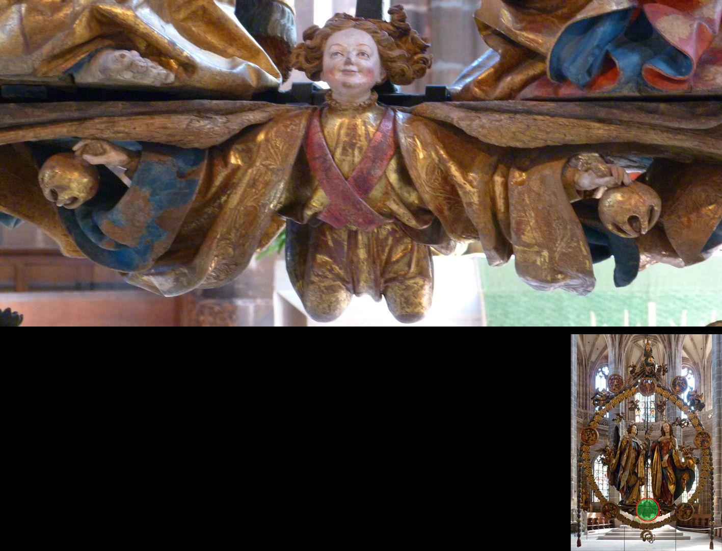 Englischer Gruß Trägerengel mit Schellen (unten rechts Detaillokalisierung)