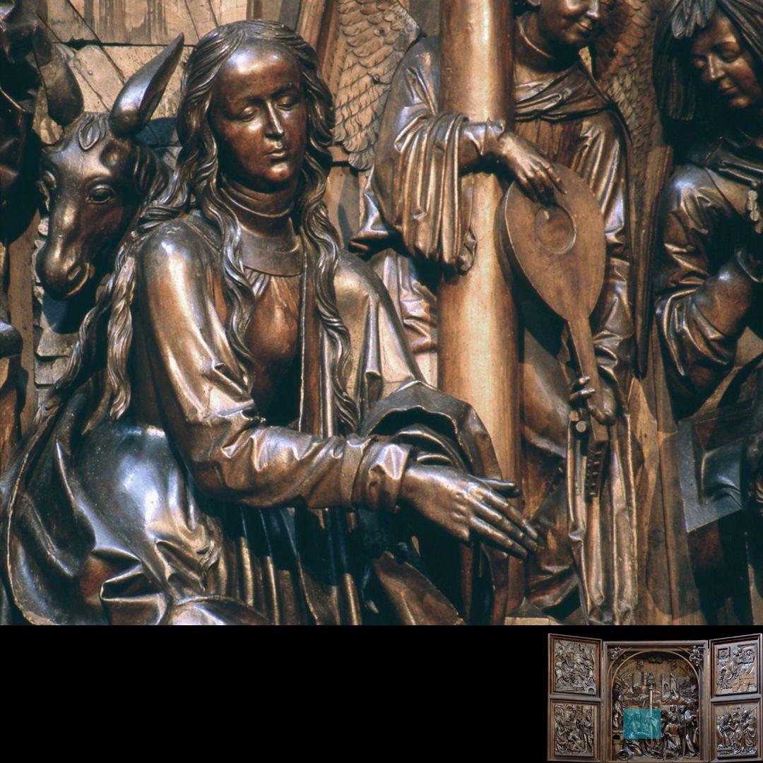 Marien-Altar Schrein, anbetende Maria