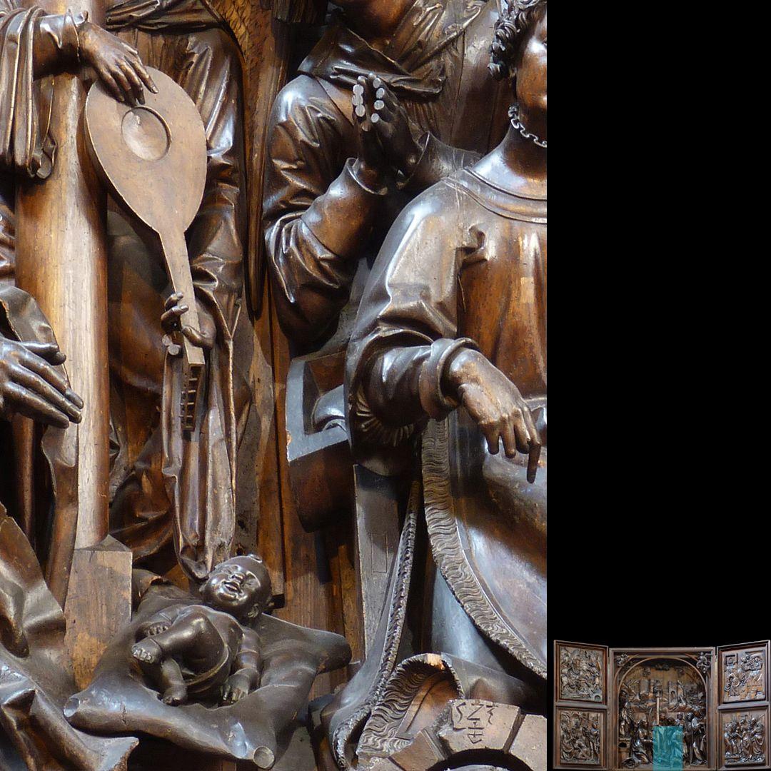 Marien-Altar Schrein, Detail mit Jesuskind