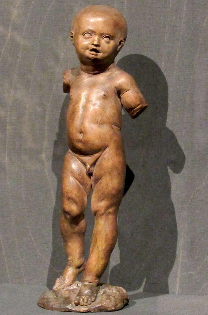 Christuskind Gesamtansicht der verstümmelten Kleinfigur