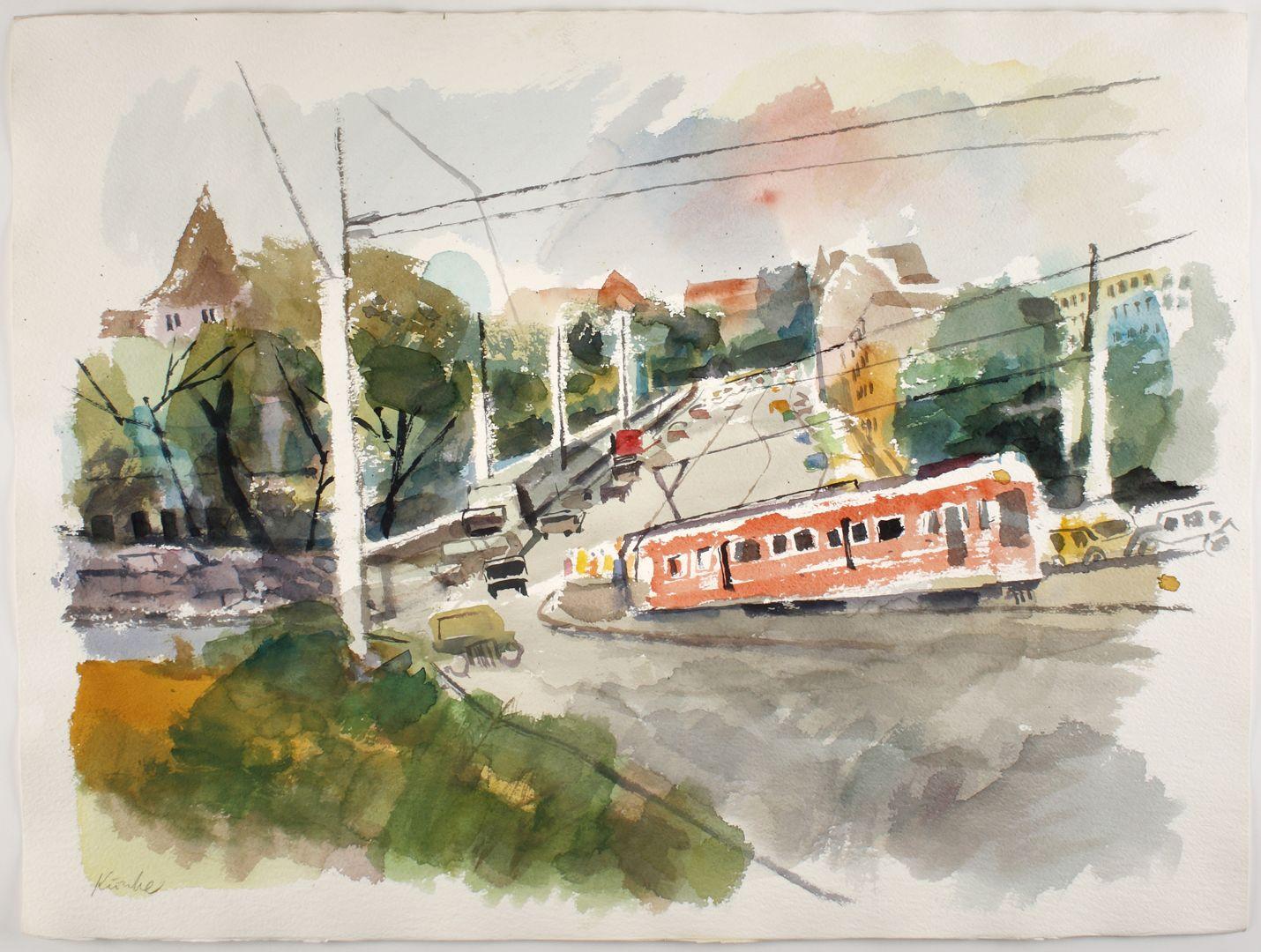 Straßenbahn am Burggraben