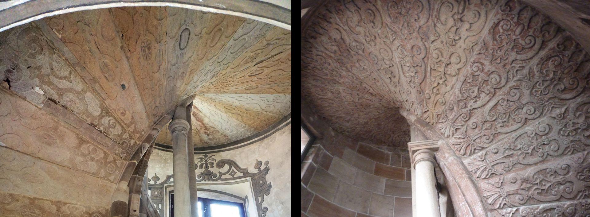 Treppentyp / Pellerhaus links Straßburg, rechts Nürnberg: Details