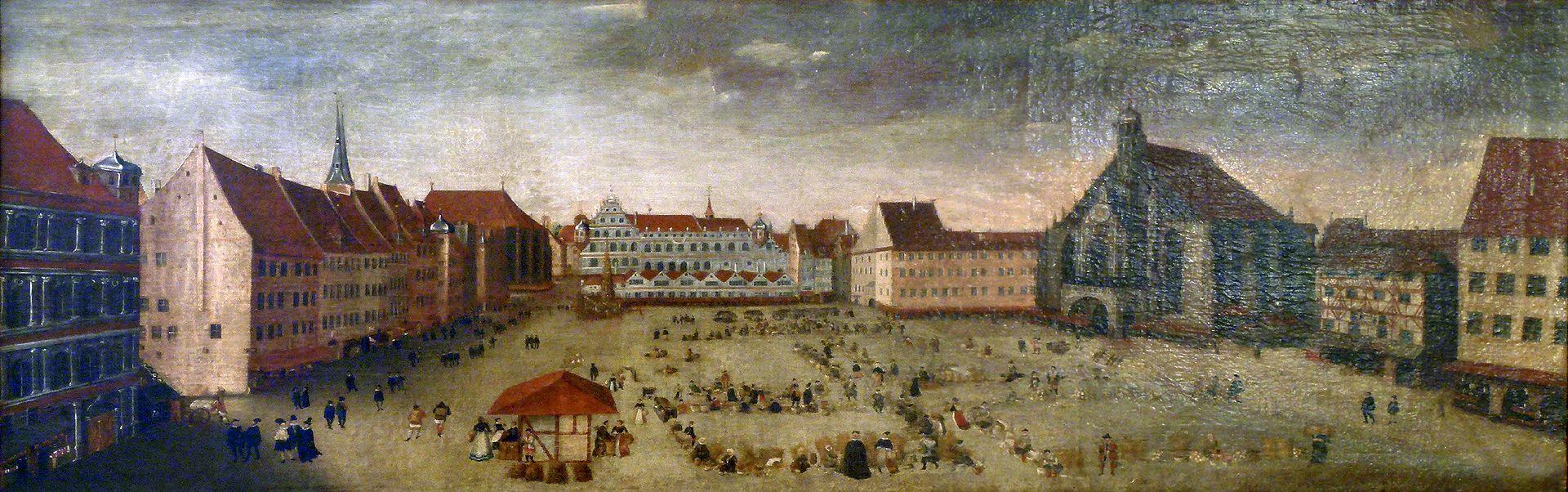 Der Nürnberger Hauptmarkt Gesamtansicht