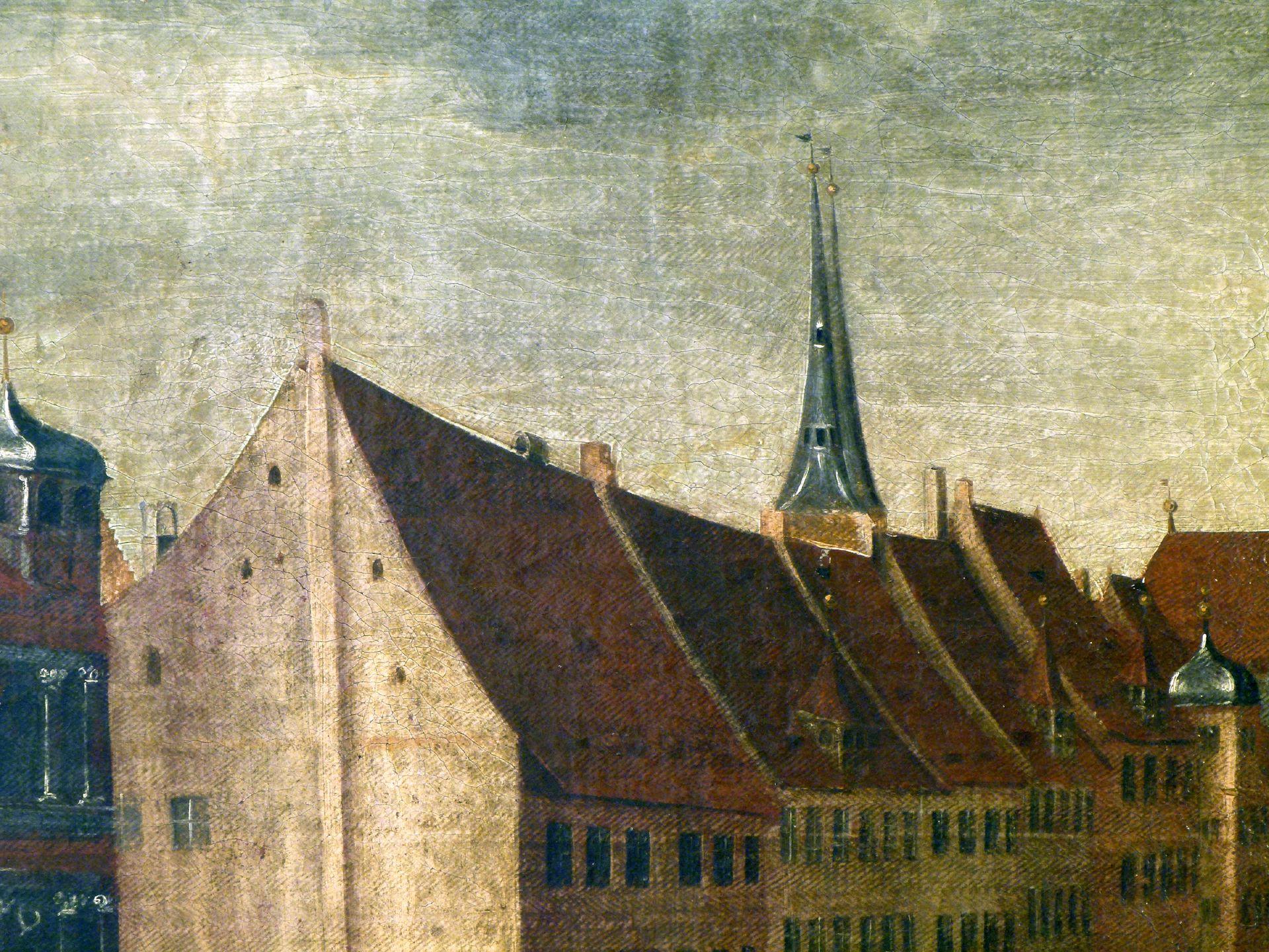 Der Nürnberger Hauptmarkt Detail Westseite
