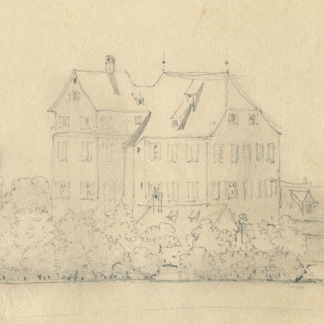 Skizzenbuch mit Ansichten von Streitberg und Neideck / inkl. Hallerweiherhaus in Nürnberg Hallerweiherhaus (1944 zerstört), Hainstraße (siehe: Burgen und Herrensitze / Giersch, Schlunk und v. Haller)