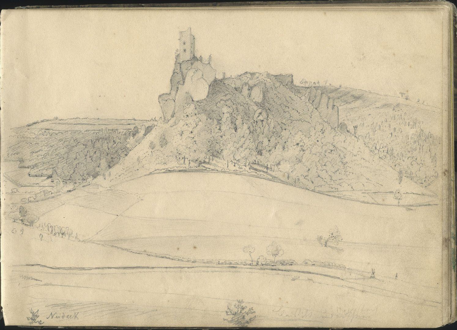 Skizzenbuch mit Ansichten von Streitberg und Neideck / inkl. Hallerweiherhaus in Nürnberg Neideck