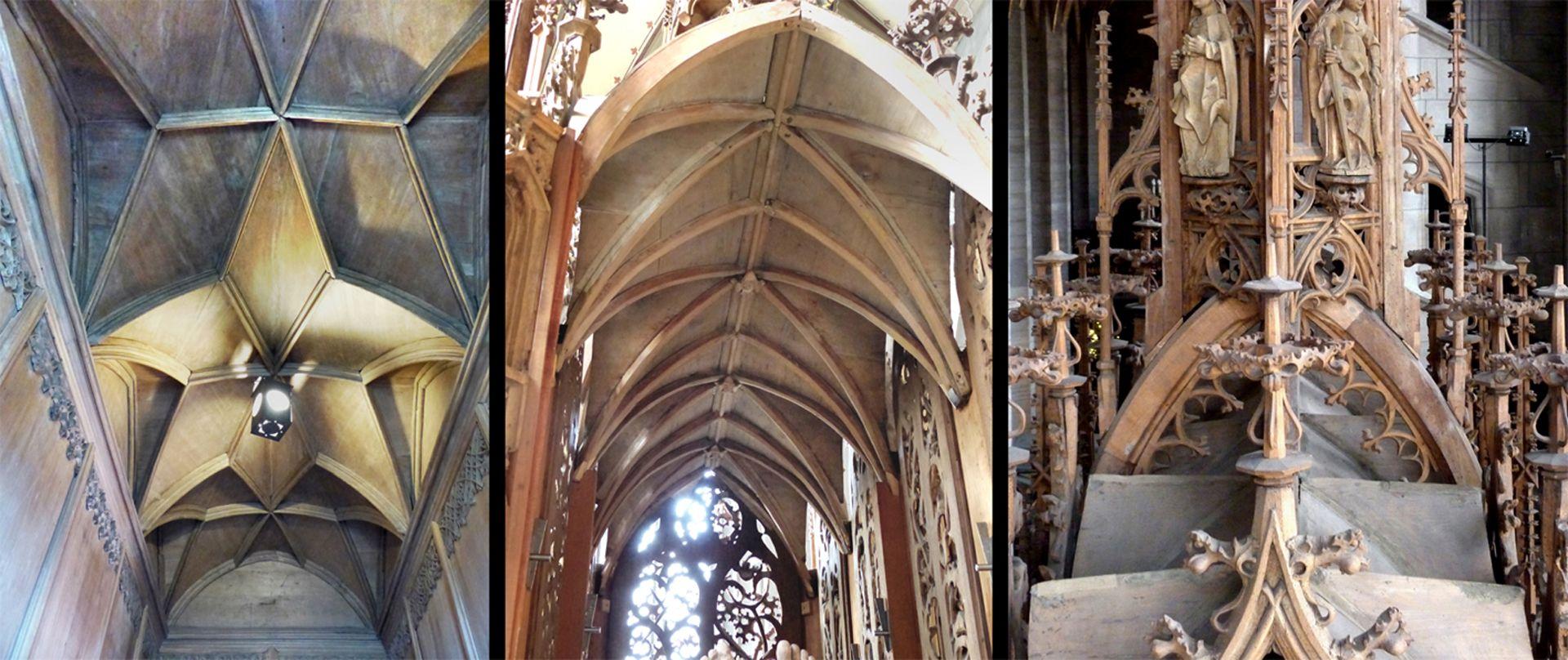 Studiolo des Anton Koberger Vergleich des Netzgewölbes mit dem Kreuzrippengewölbe in der Zwickauer Marienkirche