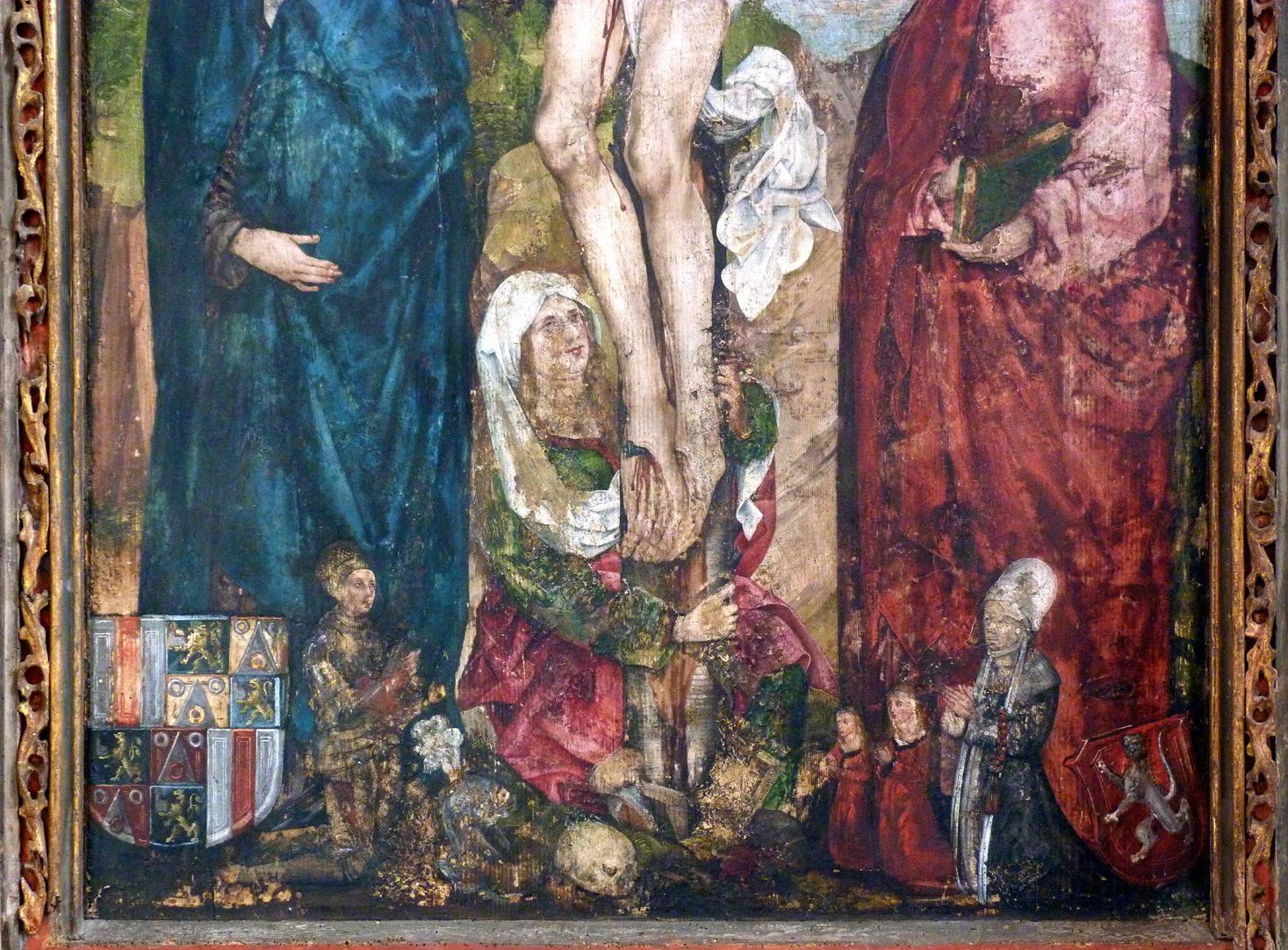 Epitaph der Obernitz untere Bildhälfte mit Maria Magdalena und Stifterfamilie