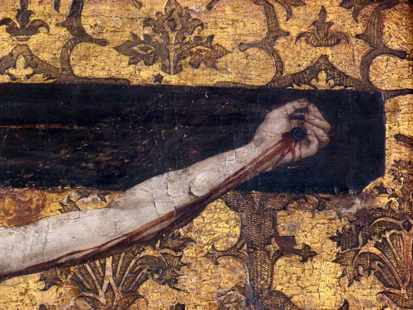 Epitaph der Obernitz Der Gekreuzigte, linker Arm