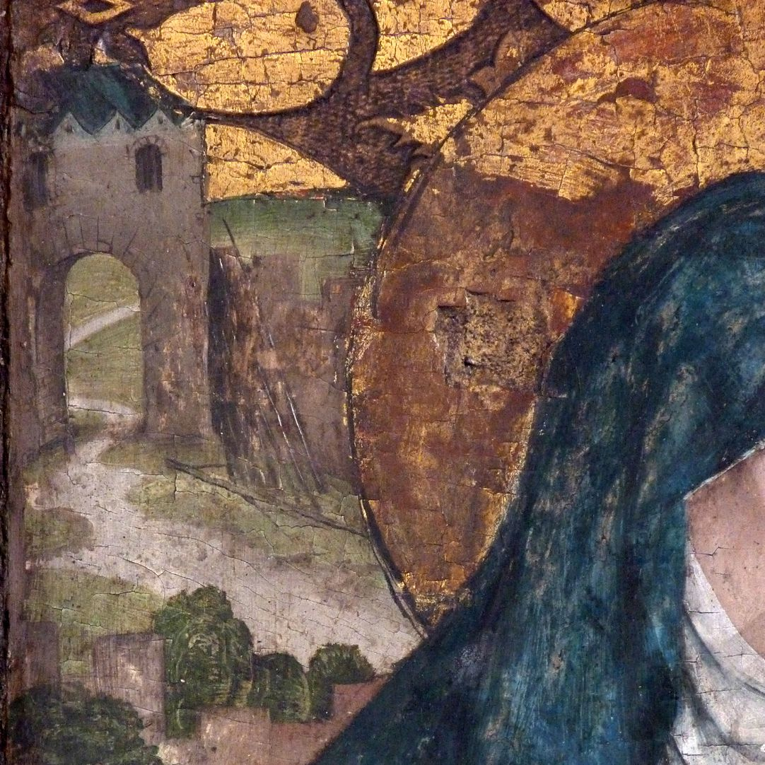 Epitaph der Obernitz Detailansicht mit Stadttor