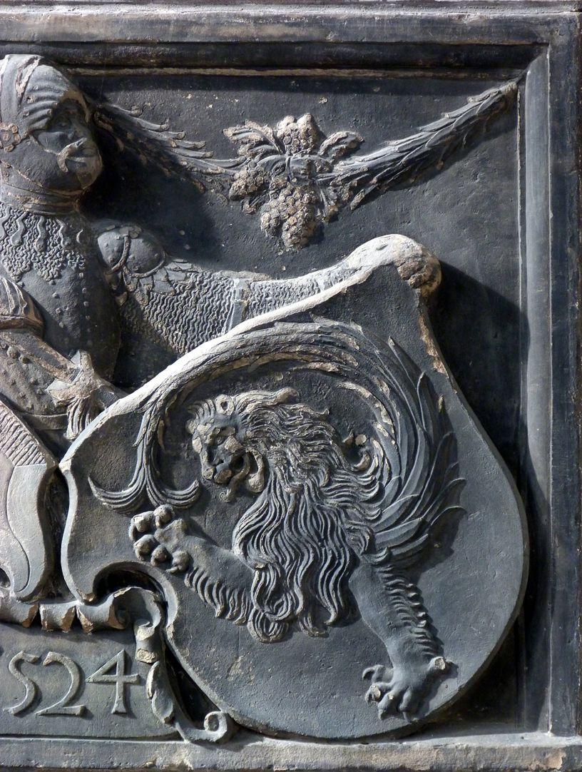 Wappenrelief Schlaudersbach/Imhoff Immhoffsches Wappen