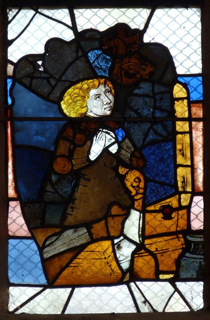 Chorfenster in der Tetzelkapelle Fenster 1 a, Stifterfigur