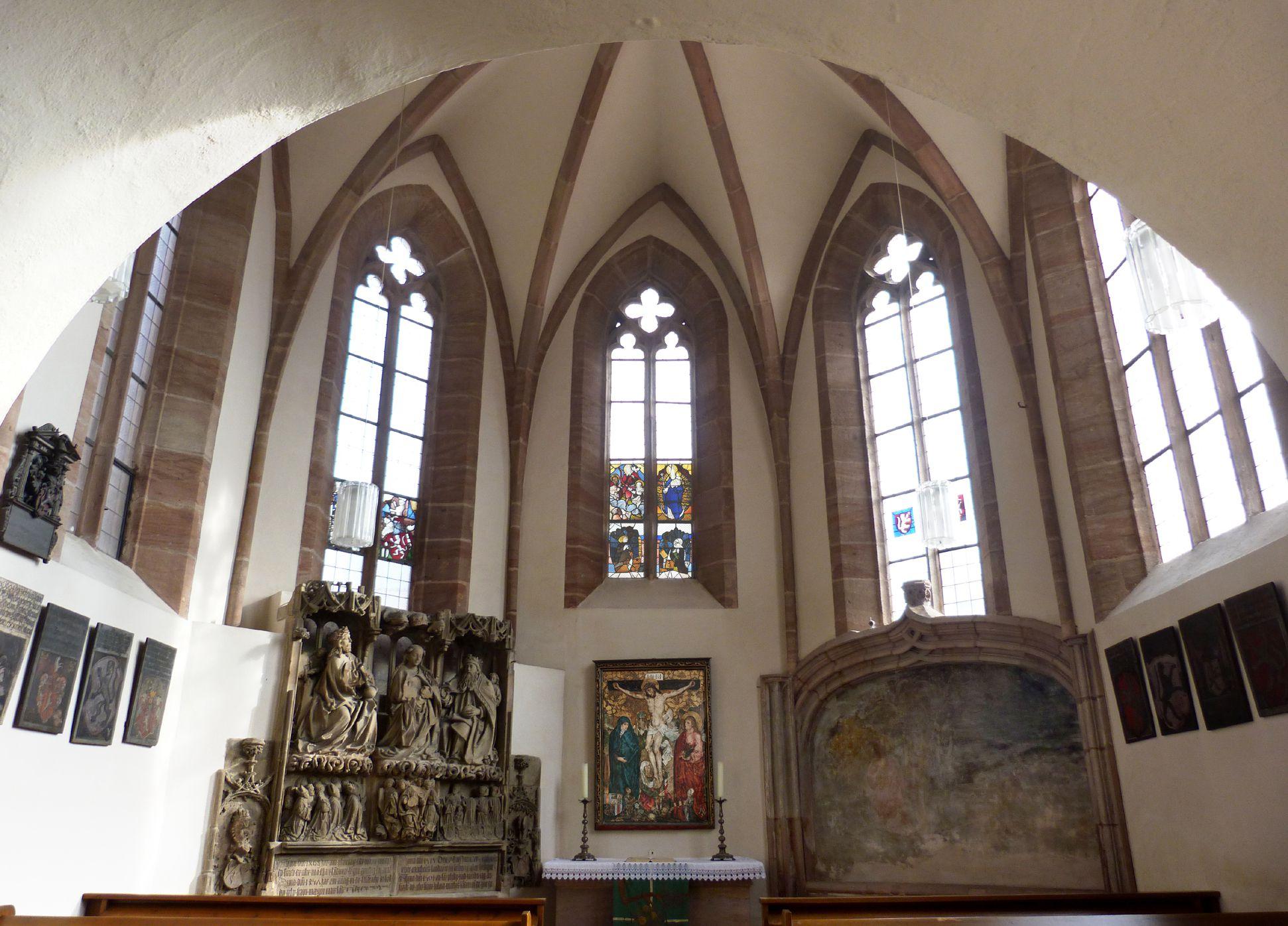 Tetzelkapelle Blick nach Osten in den Kapellenraum