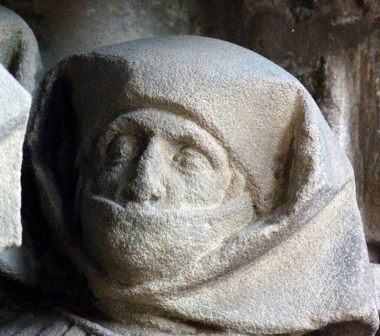 Landauersches Epitaph Kopf der Cäcilie Starck, geborene Landauer