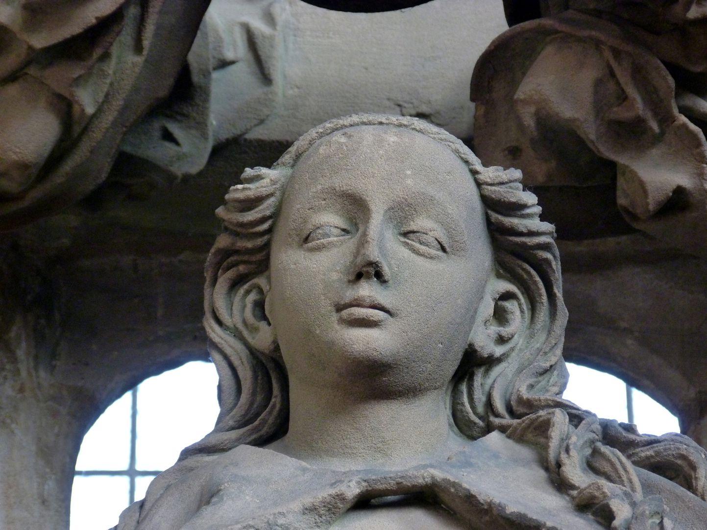 Landauersches Epitaph Kopf der Maria