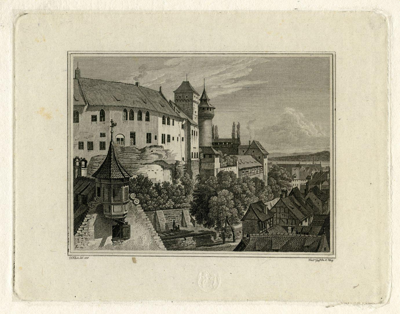 Blick vom Tiergärtnertorturm zur Burg Gesamtansicht