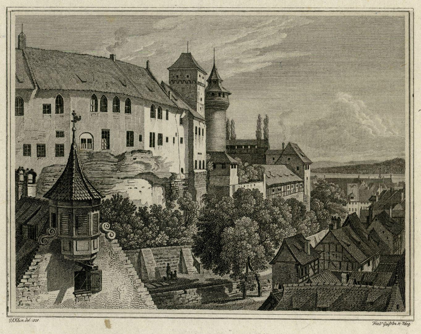 Blick vom Tiergärtnertorturm zur Burg Bildausschnitt