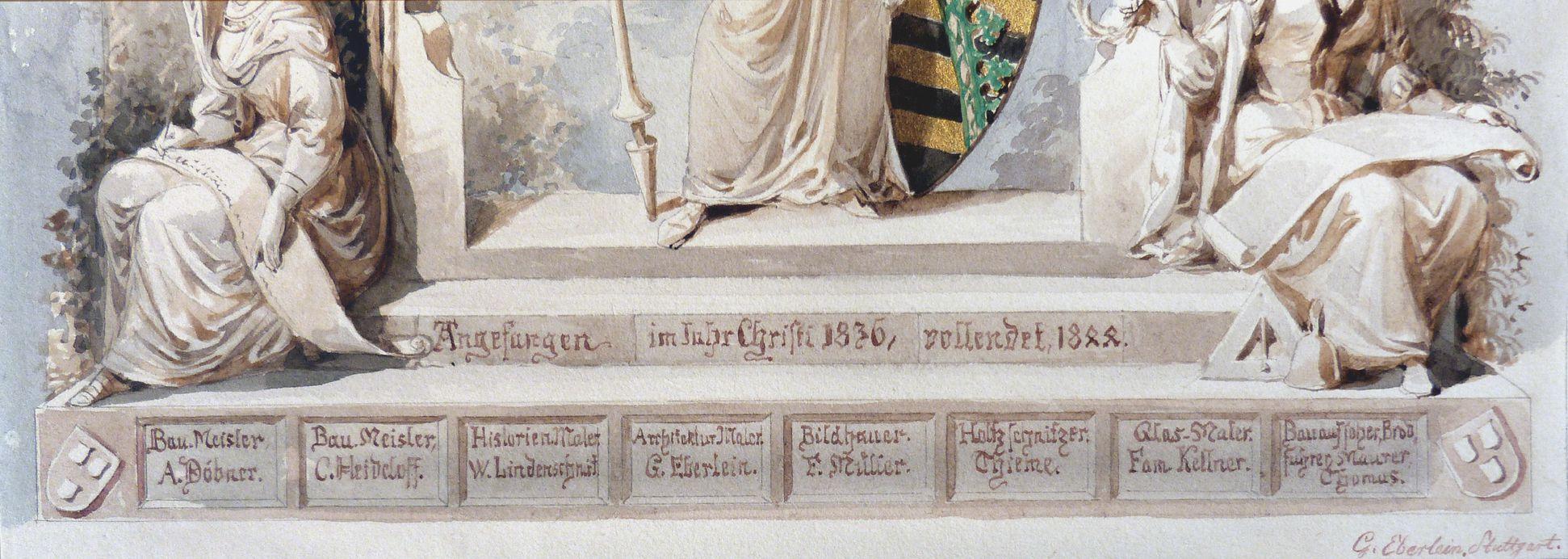 Landsberg Schloss, Titelblatt Schloss Landsberg (Meiningen), Beteiligte Künstler