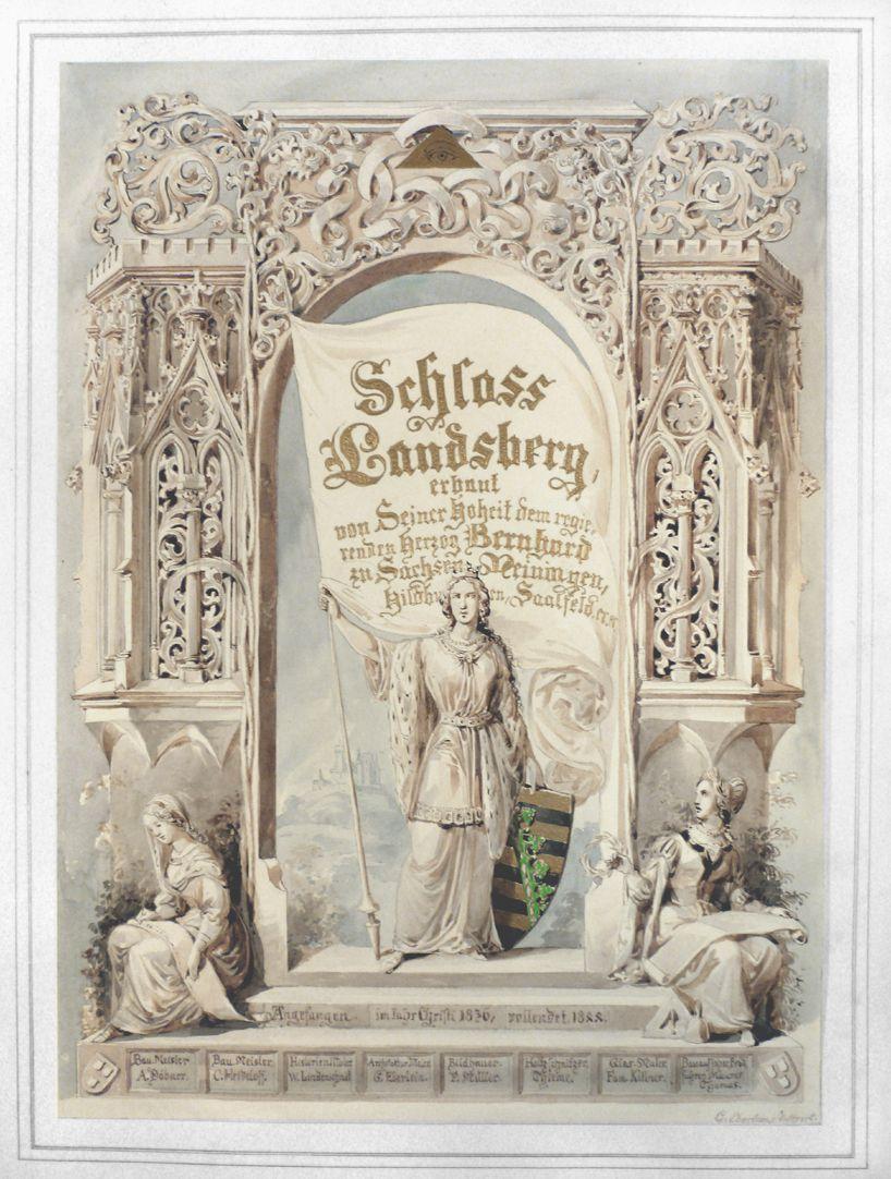 Landsberg Schloss, Titelblatt Gesamtansicht