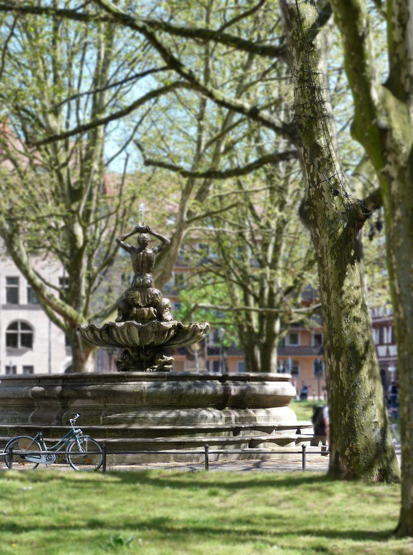 Tritonbrunnen Blick von Westen