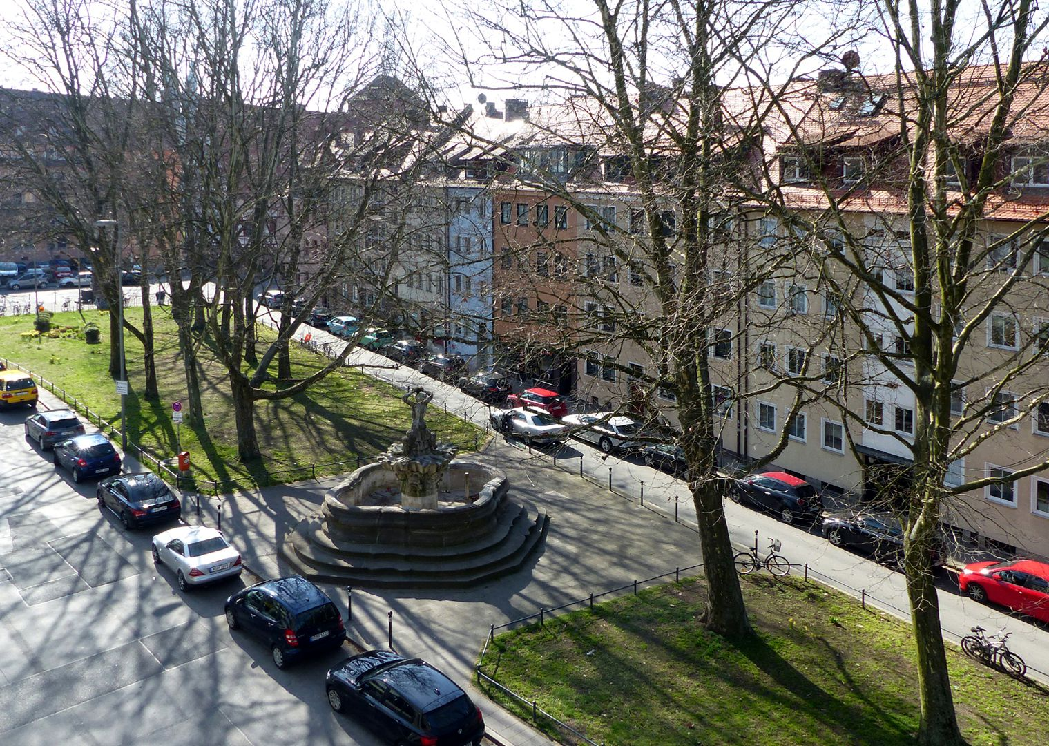 Tritonbrunnen Platzsituation von oben nach Südost