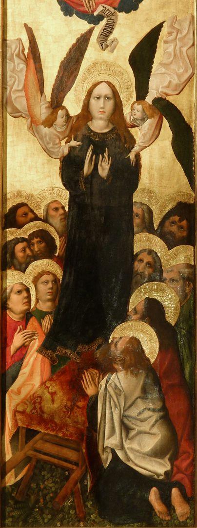 Tucheraltar Maria wird von Engel in den Himmel emporgetragen