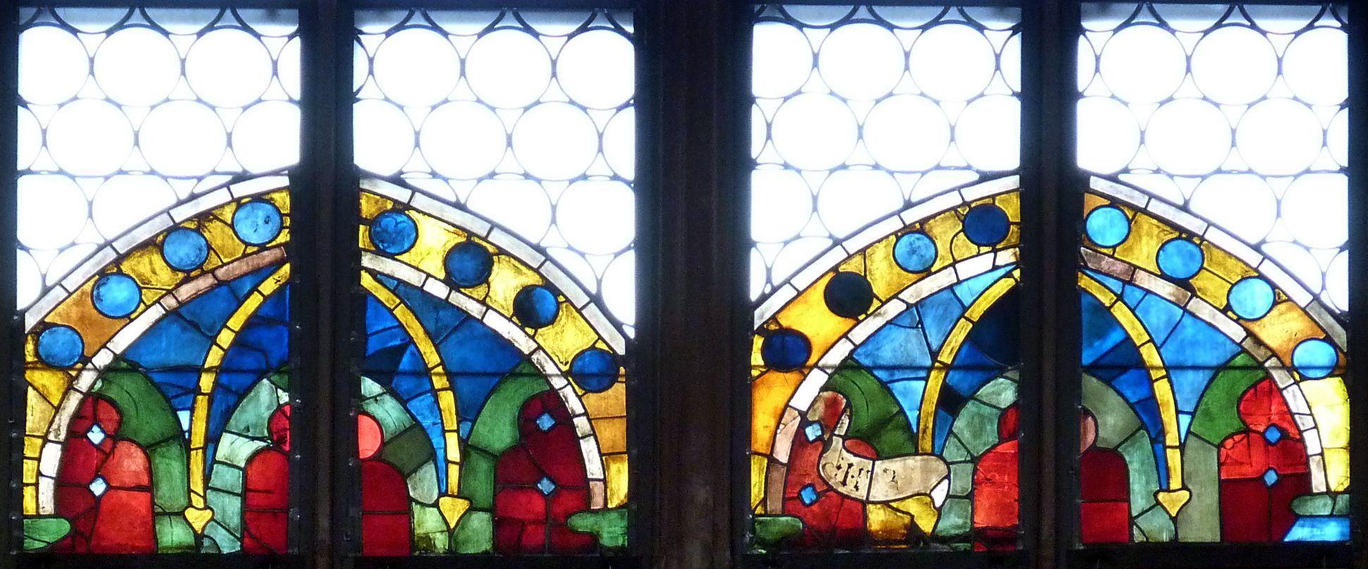 Tucher-Fenster Siebte Zeile, blaues Himmelsgewölbe