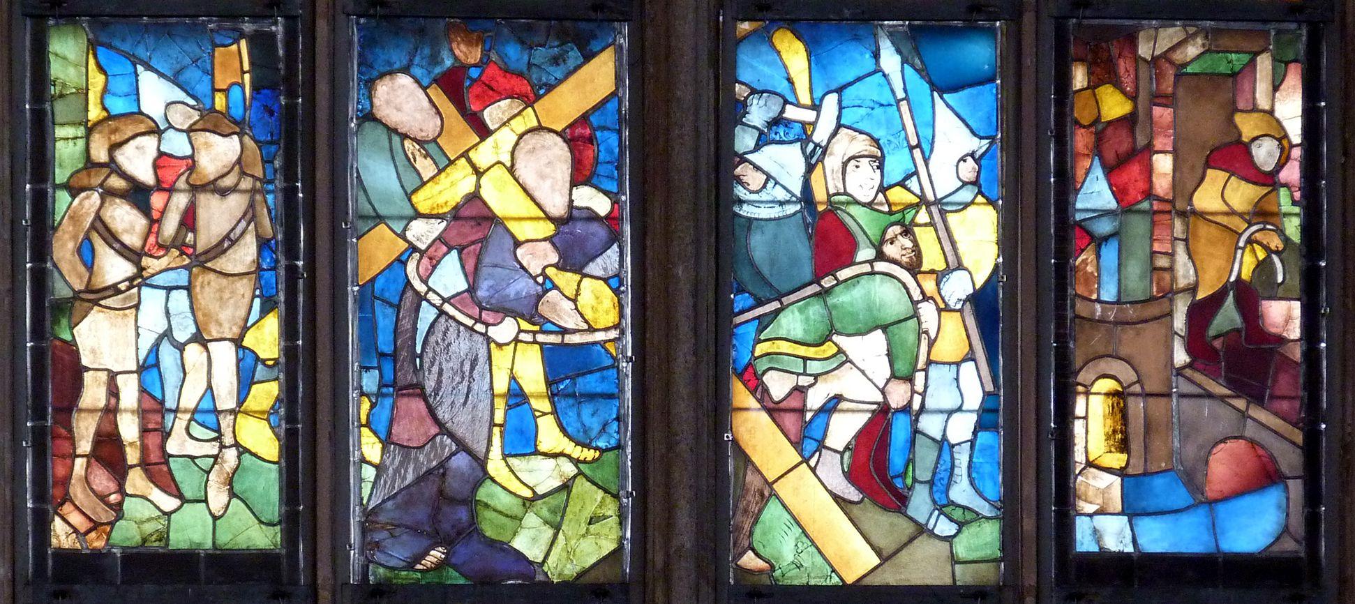 Tucher-Fenster Dritte Zeile: Kreuztragung