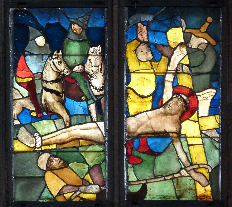 Tucher-Fenster Vierte Zeile: Kreuzanheftung
