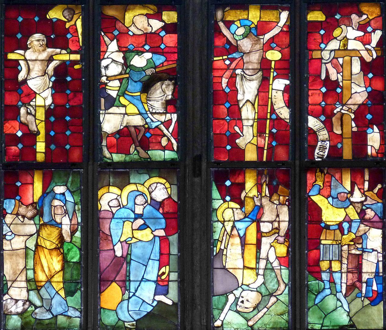 Tucher-Fenster Fünfte und sechste Zeile: Kalvarienberg